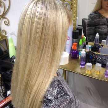 Работа парикмахера-стилиста Инги Башкировой (мелирование)