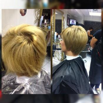окрашивание в технике стробинг. До и после. Работа парикмахера-универсала Светланы Терещенко